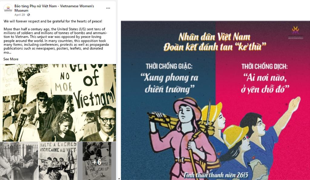 Vietnamese Women's Museum created content for social media