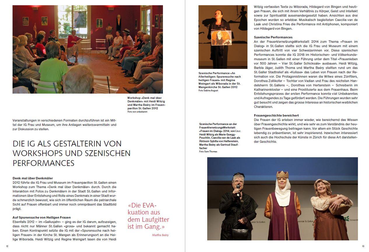 Activities of the IG Frau und Museum