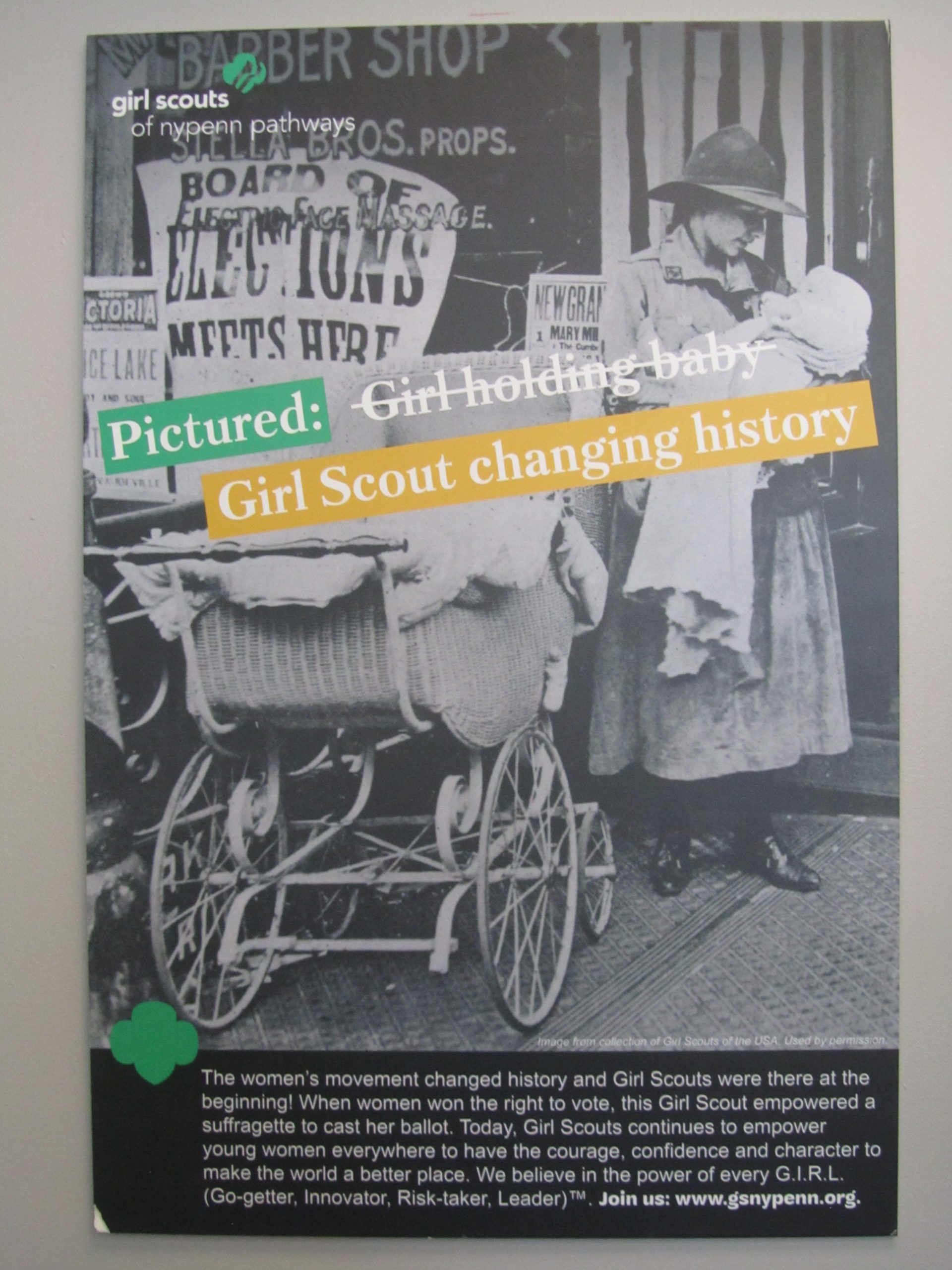 Poster: Girl scout changing history