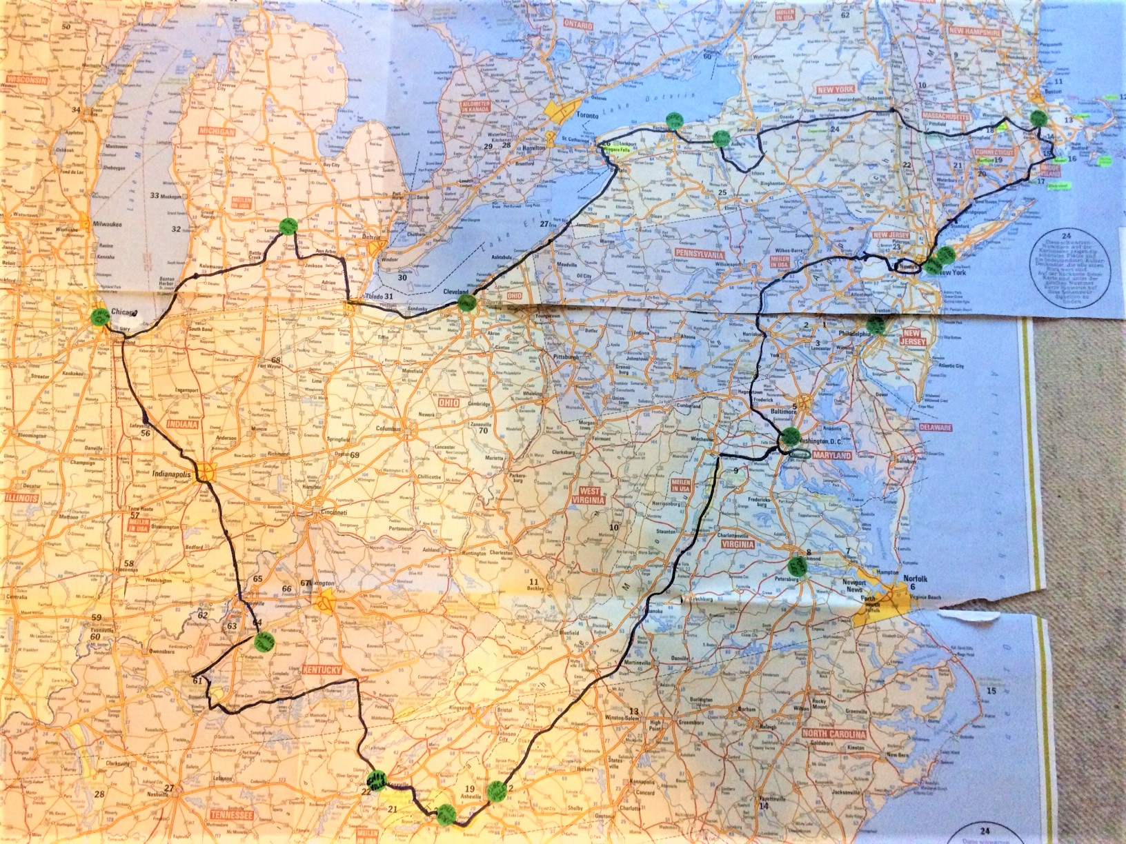 The route of Marianne Wimmer to the women's museums in the USA