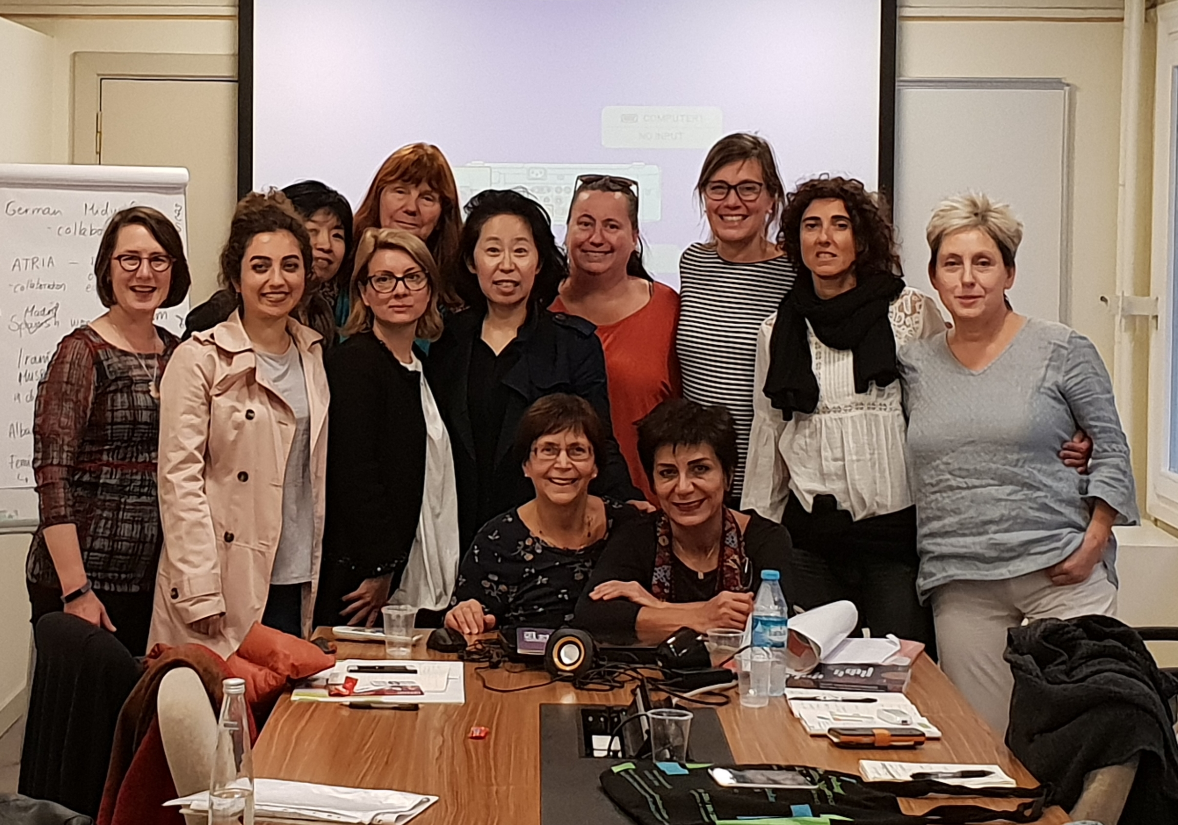 Group of women gather during a workshop
