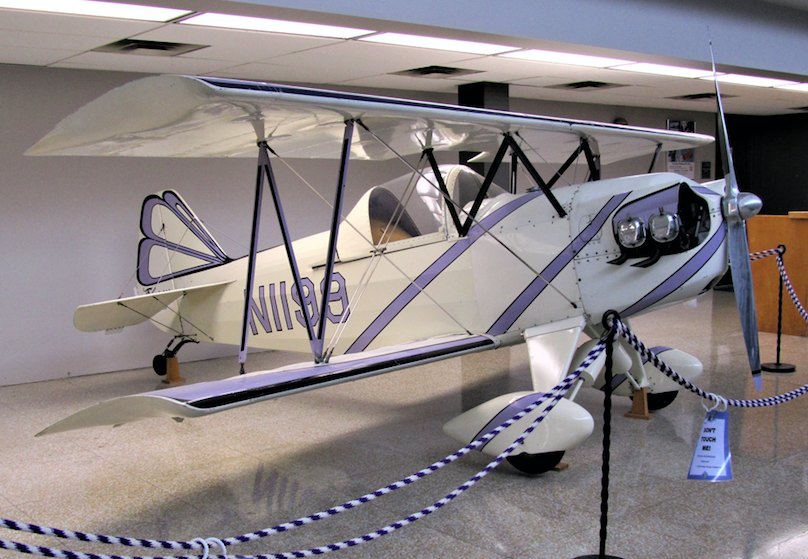 Smith Miniplane, built and test flown by TRACY PILURS, a girl pilot